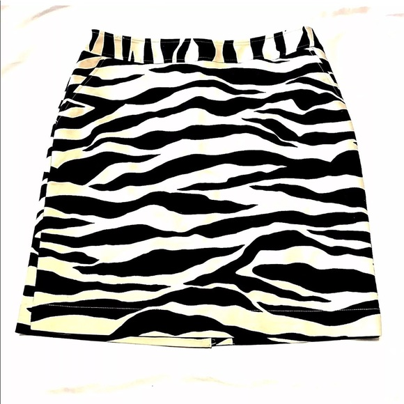 c60ae6fe6b Merona Skirts | 20 Pencil Skirt Animal Print Zebra | Poshmark